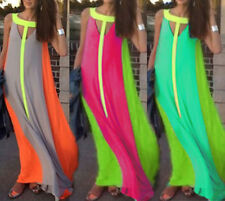 Womens Boho Sexy Summer Style Beach Evening Party Long Maxi Chiffon Dress