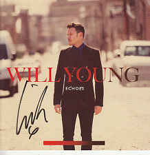 WILL YOUNG Echoes 2011 UK SIGNED/AUTOGRAPHED 13-track CD