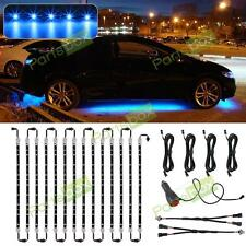 14pcs Blue 3 Mode Led Underglow Underbody Truck Car Neon Light Strip Bar Kit