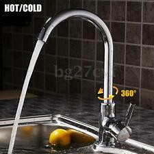 Aluminum Swivel Hot Cold Mixer Tap Water Kitchen Bathroom Basin Pull Out Faucet