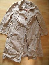 MALIPARMI schlichter Mantel beige mit großen Schmuckknöpfen Gr. 44 NEUw.  ZC516