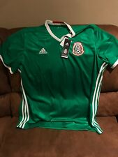 adidas Mexico El Tri 2016 Short Sleeves Green Soccer Jersey NWT Size 2XL Men