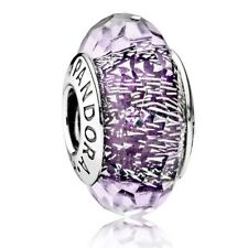 Pandora  purple facet Shimmer Murano charm bead (Genuine ,Ale s925) 791663