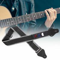 KE_ Adjustable Electric Acoustic Folk Guitar Bass Shoulder Strap Belt & 3 Pick