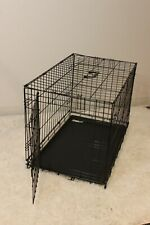 """30"""" Dog Crate Folding Wire Metal Cage  Kennel With Tray Pan"""