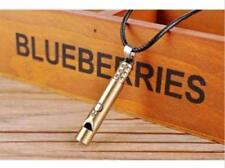 New Fashion Men Women Jewelry Titanium Steel Whistle Pendant Necklace Cool Gift