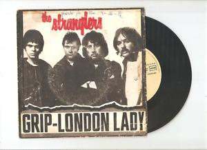 THE STRANGLERS Grip / London Lady 7/45 PORTUGAL '77 Punk Rock rare press