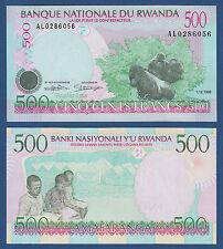 RUANDA / RWANDA 500 Francs 1998  UNC P.26