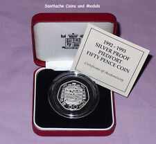 1992-93 ROYAL MINT SILVER PIEDFORT PROOF EEC 50p COIN - Scarce Issue