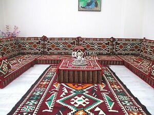 U Shaped Arabic Floor Sofa Set Arabic Floor Seating Arabic Majlis Sofa Set Jalsa
