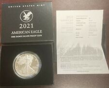 2021-S $1 PROOF SILVER AMERICAN EAGLE with OGP BOX & COA TYPE 2 21EMN