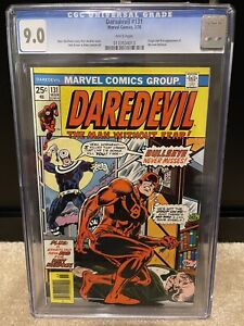 Marvel Daredevil #131 Cgc 9.0 White Pages!  1st Bullseye!