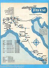 QUATTROR962-PUBBLICITA'/ADVERTISING-1962- PAVESI AUTOGRILL