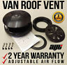 BLACK Universal Plastic Rotary Van Roof Air Vent - For Ford Transit