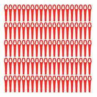 100 x Rot Kunststoffmesser Ersatzklingen Blades für Akku-Rasentrimmer ART 26 Li
