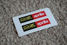 APRILIA OZ Racing Motorcycle Helmet Classic Racing Decal Stickers Black Red 50mm