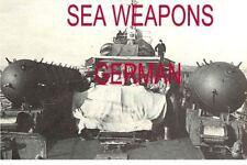 GERMAN  NAVY ORDNANCE SEA MINES,BOMB,FUZE US INTEL  MANUAL DVD WW2  BEST   NEW
