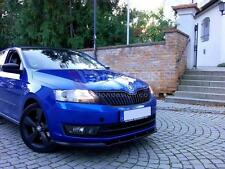 FRONT SPLITTER (TEXTURED) FOR SKODA RAPID (STANDARD BUMPER) 2013-up