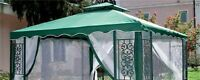telo top copertura di ricambio per gazebo gazebi 3x3 mt verde giardino