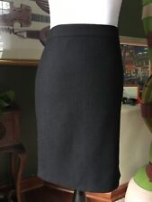 Willi Smith Black Lined Wool Blend Pencil Skirt 4 NWTs