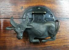 Vintage Chinese Brass Cow Lock With Key