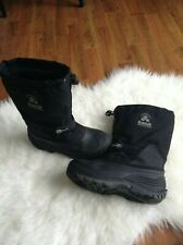 Boys Kamik Nylon Rubber Black Snow & Rain Waterproof Insulated Boot Sz 6