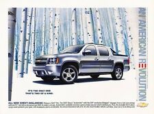 2007 Chevrolet Avalanche silver Original Advertisement Print Car Ad J531