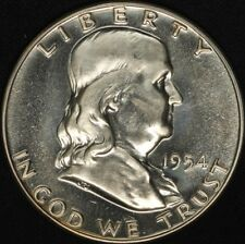 1954 50c Franklin Silver Proof Half Dollar - Free Shipping USA