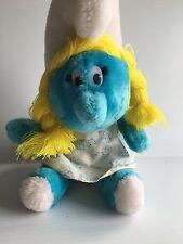 Smurfette 1981 Vintage Smurfs Peyo Plush Stuffed Animal