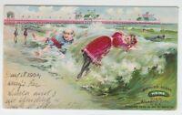 "[29903] 1904 POSTCARD HEINZ PIER ATLANTIC CITY ""BATHING SCENE"""