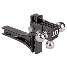 "Draw-Tite Adjustable Tri-Ball Ball Mount System w/ Step 2"" Sq. Shank 1-7/8"" Ball"