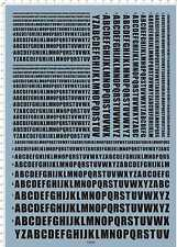 All Size English alphabet font 9-2 A4 Military Model Kit Water Slide Decal