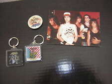 Anthrax Keychain Button Lot Of 4 Unpublished Photo 3X5 Vintage 80'S Scott Ian