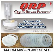 12 Dozen QRP Mason Jar Reusable Silicone SEALS REGULAR MOUTH for Plastic Lid Cap