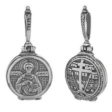 Sterling Silber 925 Orthodoxe Anhänger Hl Pantaleon Medallion zum Öffnen 36244