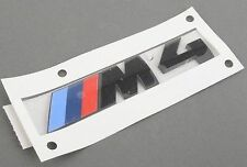 BMW BLACK M4 M BADGE REAR BOOT EMBLEM STICK ON GENUINE 8068579 LLOYD CARLISLE