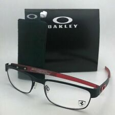 New Ferrari OAKLEY Eyeglasses CARBON PLATE OX5079-0455 Black Red w/ Carbon Fiber