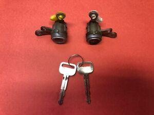 1992-1996 TOYOTA CAMRY FL FR DOOR LOCK CYLINDER SET MATCHED 2 KEYS USED OEM!