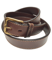 """""""Gowland"""" 100% Argentine Leather Polo Belt with Waxed Thread Stitches -Excellent"""