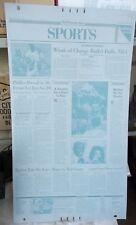 MICHAEL JORDAN Retirement Announcement Page WASHINGTON POST PRINTING PLATE 1993