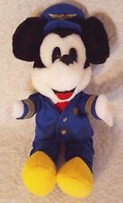 """Disney Mickey """"Plane Crazy"""" Pilot Plush with Color Variant. HTF by Encore 1998"""