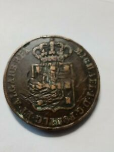 1831 Miguel Portugal 40 Reis Coin