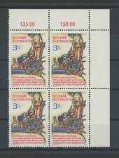 AUSTRIA 1982 SAINT ST. FRANCIS OF ASSISI block of 4 MNH h3577