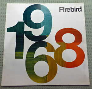 1968 Pontiac Firebird Sales Brochure original, not a reprint
