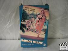 Savage Island VHS Large Case RARE Linda Blair