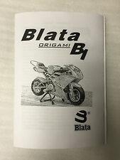New Blata B1 Midi Moto Origami Owners Manual