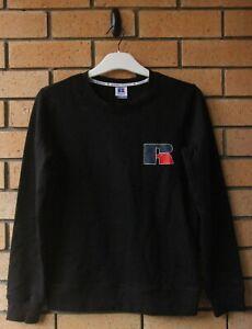 BNWT RUSSELL ATHLETIC MEN'S BLACK JUMPER SIZE M, L, XL