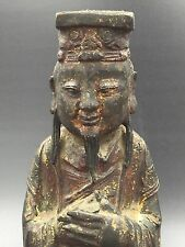 Chinese Bronze Statue Of Taoist God Ming Dynasty