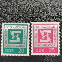 Alemania Oriental año 1969 50 aniversario del Trabajo  Nº 1210 y 1211