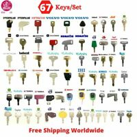 Master 67 Keys Ignition Set For Heavy Equipment & Construction Fits Many Brands